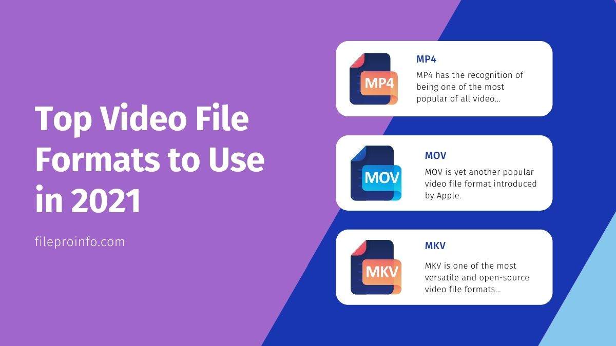 Top Video File Formats to Use in 2021