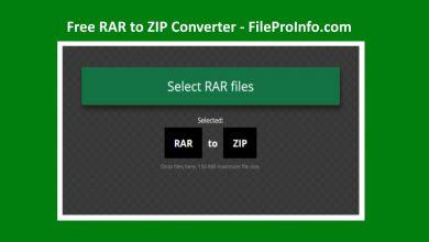 RAR to ZIP Converter Online & Free by FileProInfo.com