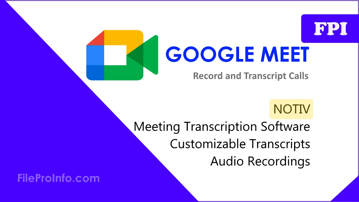 How to Record and Transcript a Google Meet Call