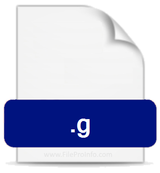 G file extension icon image.